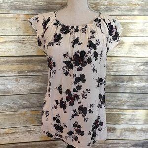 Gap flowered short sleeve shirt, size medium